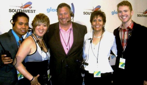 GLAAD talent escorts on the red carpet