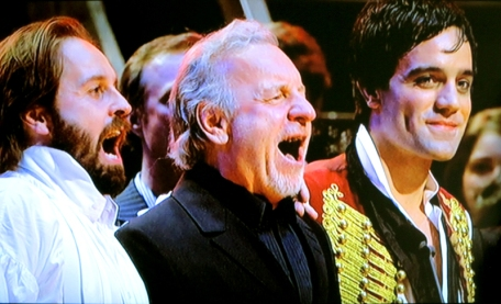 Alfie Boe, Colm Wilkinson & Ramin Karimloo, in the Les Miserables concert