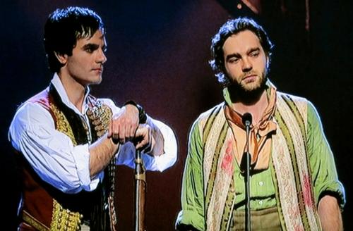 Enjolras (Ramin Karimloo) & Grantaire (Hadley Fraser), Les Miserables