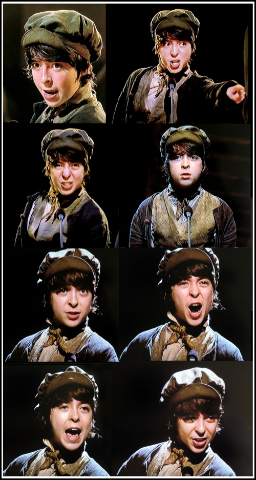 Robert Madge as Gavroche, Les Miserables 25th anniversary concert