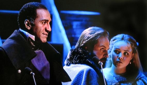 Javert Valjean Cosette: Norm Lewis, Alfie Boe, Katie Hall, Les Miserables