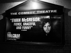 Little Malcolm Comedy Theatre sign