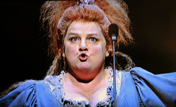 Madame Thénardier (Jenny Galloway) in the Les Misérables concert