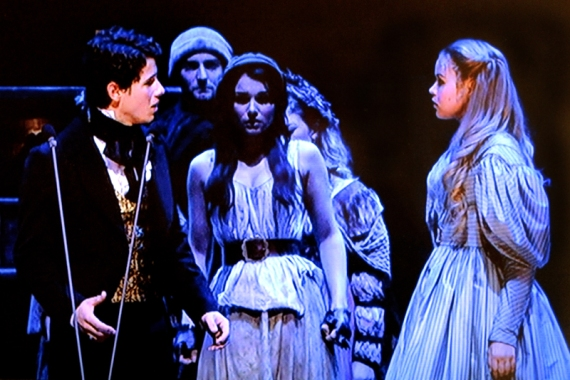 Nick Jonas, Samantha Barks, Katie Hall, Les Miserables