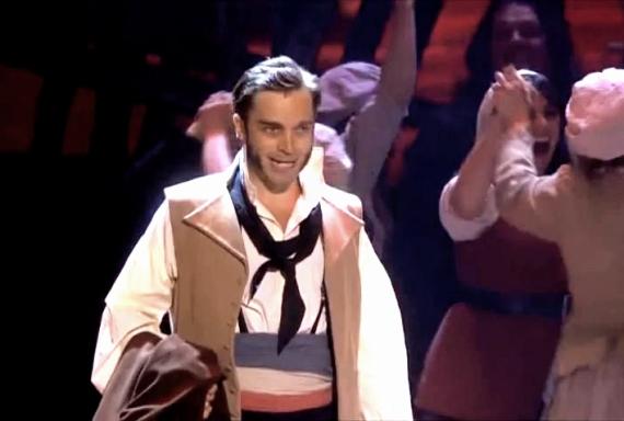 Hadley Fraser as Javert, Les Miserables, Classic Brit Awards