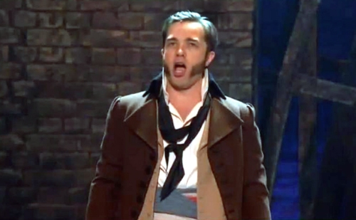 Hadley Fraser as Javert, Les Miserables, Classic Brit Awards