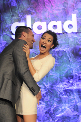Naya Rivera auctions off kiss for GLAAD.  Photo by Araya Diaz/WireImage.com