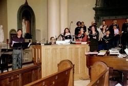 Cantor Scott Grinthal, Frank Uranich and St Agnes Choir