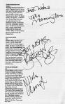The Associate autographs