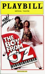 Boy From Oz autographed program