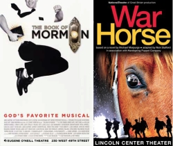 The Book of Mormon and War Horse posters