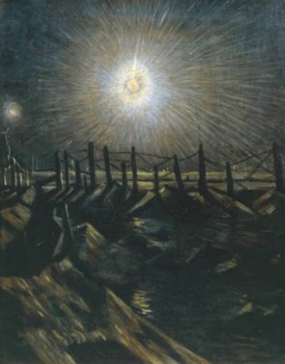 A Star Shell by C.R.W. Nevinson