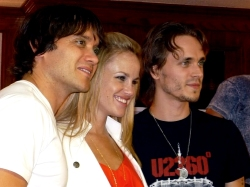 Dominic Zamprogna, Julie Berman and Jonathan Jackson