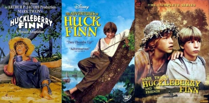 Huckleberry Finn video and DVD covers