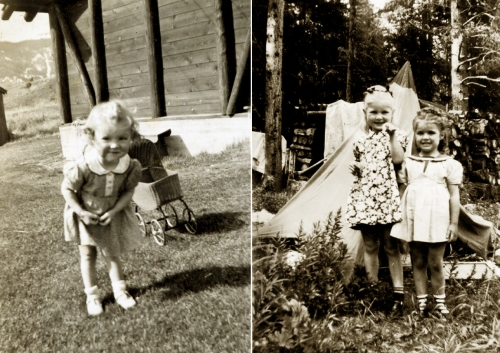 Mom as a toddler and with her best friend