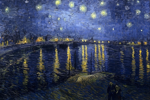 Starry Night Over The Rhone, Vincent Van Gogh 1888