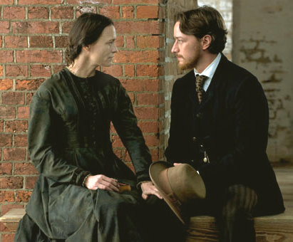Robin Wright and James McAvoy in The Conspirator