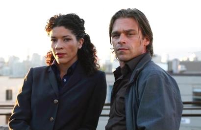 Klea Scott and Ian Tracey in Intelligence