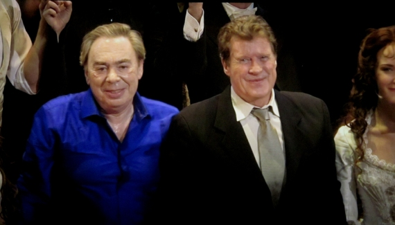 Andrew Lloyd Webber and Michael Crawford