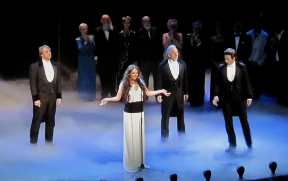 John Owen-Jones, Sarah Brightman, Colm Wilkinson and Peter Jöback