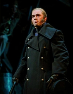 Hadley Fraser as Javert, Les Miserables, London, Queen's Theatre