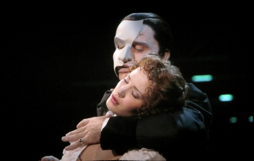 Music of the Night embrace with Ramin Karimloo and Sierra Boggess