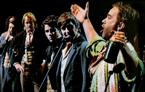 Hadley Fraser and cast, Les Miserables, O2 Anniversary concert