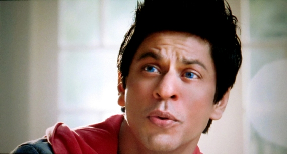 Shah Rukh Khan with blue eyes in Ra.One