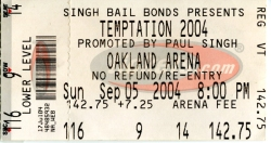 Temptation Tour ticket