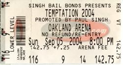 Temptation Tour ticket