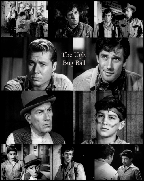 Robert Fuller as Jess Harper in Laramie with John Smith (Slim Sherman), Robert Crawford Jr. and Hoagy Carmichael