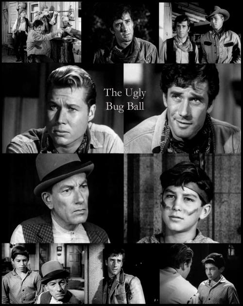 Robert Fuller as Jess Harper in Laramie with John Smith (Slim Sherman), Robert Crawford Jr. and Hoagy Carmichael