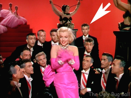 Young dancer Robert Fuller behind Marilyn Monroe in Gentlemen Prefer Blondes