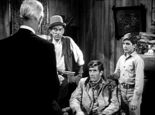 (L to R) Hoagy Carmichael, Robert Fuller, and Robert Crawford Jr. in Laramie (with John Hoyt's back)