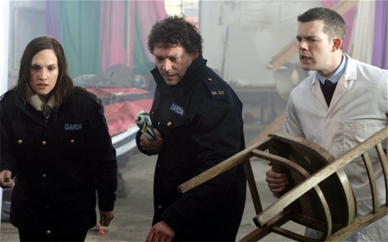 Ruth Bradley, Richard Coyle, and Russell Tovey in Grabbers
