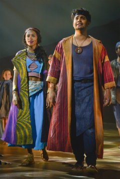 Tzipporah (Brennyn Lark) and Moses (Diluckshan Jeyaratnam)