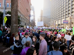 The end of the march at Embarcadero